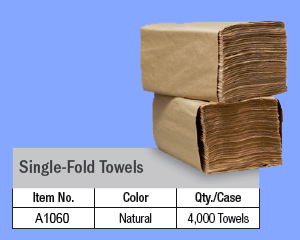 A1060 - BROWN SINGLE FOLD TOWELS