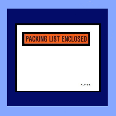 PC- ADM-51 PACKING SLIP ENVELOPES