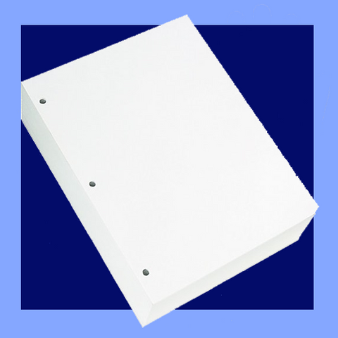 "BC8113 - 8 1/2"" X 11"" 20 LB 3 HOLE PUNCHED WHITE COPY PAPER X-9000"