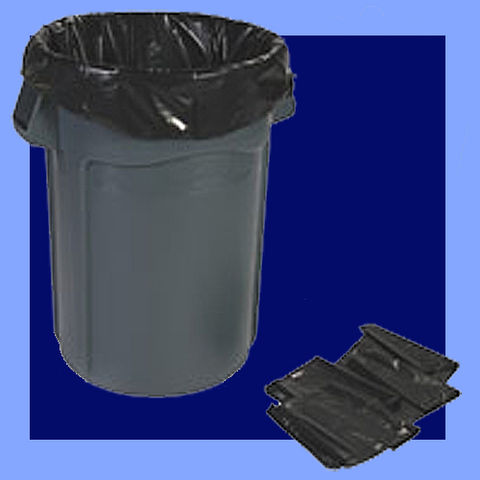 CB2-47X - BLACK 56 GAL TRASH CAN LINERS