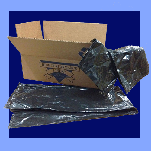 "CB2-62X - 38"" X 58"" BLACK .8 MIL 60 GALLON TRASH CAN LINERS"