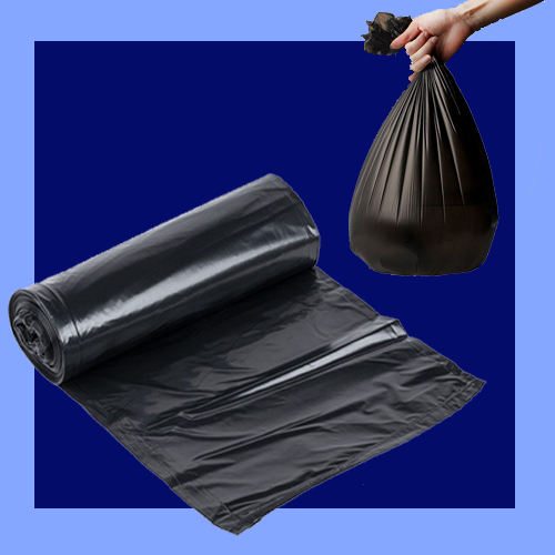 "CBB17L - 13"" X 4"" X 17"" BLACK .35 MIL 4 GALLON TRASH CAN LINERS"