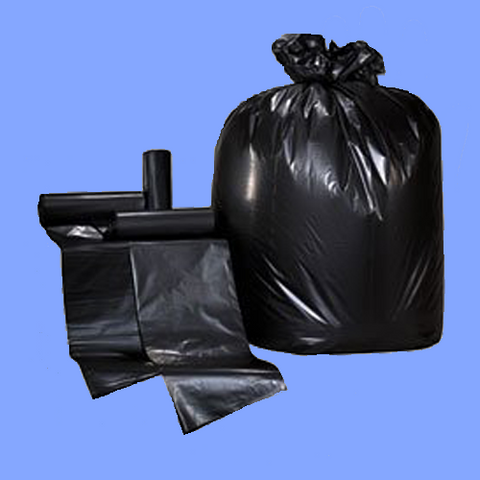 "CXB32L - 24"" X 32"" BLACK .35 MIL 15 GALLON LLDPE TRASH CAN LINERS"