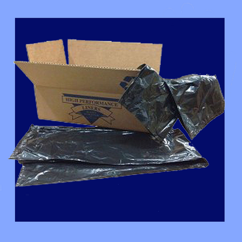 "CXB46H - 40"" X 46"" BLACK .65 MIL 45 GALLON LLDPE TRASH CAN LINERS"