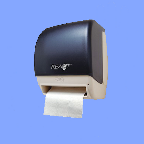 DISPENSER - REACT<sup>&trade;</sup> HANDS FREE TOWEL DISPENSER