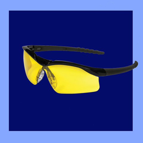 DL114 - DALLAS<sup>&reg;</sup> AMBER LENS SAFETY GLASSES