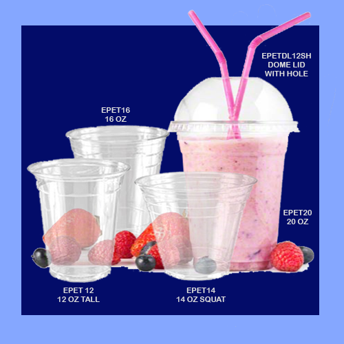 EPET20 - 20 OZ - CLEAR PLASTIC CUPS