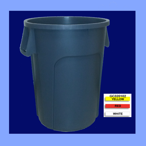 GC320102 - YELLOW 32 GALLON CONTAINER