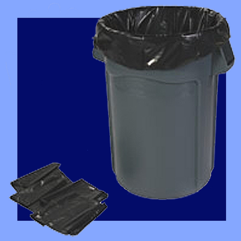 "HCR47XC - 43"" X 48"" CLEAR .67 MIL HEAVY DUTY GLUTTON TRASH CAN LINERS 56 GALLON CAPACITY"
