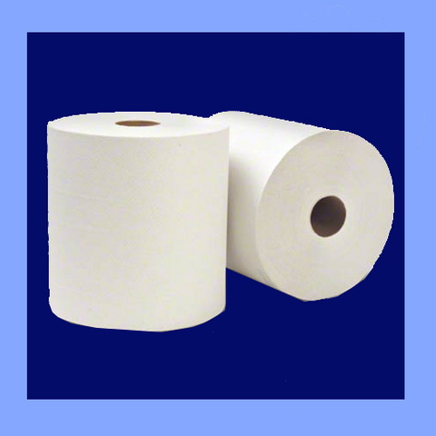 "KCL01000 - 8"" X 1,000' WHITE ROLL TOWELS"