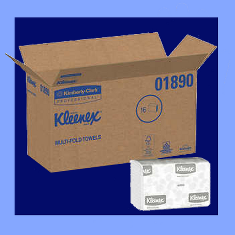 KCL01890 - KLEENEX<sup>&reg;</sup> WHITE MULTIFOLD TOWELS