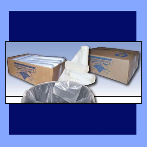 "PXC39X - 30"" X 40"" 1 MIL CLEAR TRASH CAN LINERS"