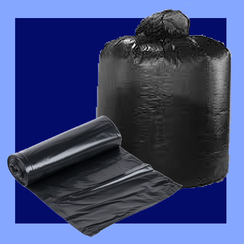 "TGG46XXH - 40"" X 46"" 1.8 MIL 40-45 GALLON BLACK TRASH LINERS"