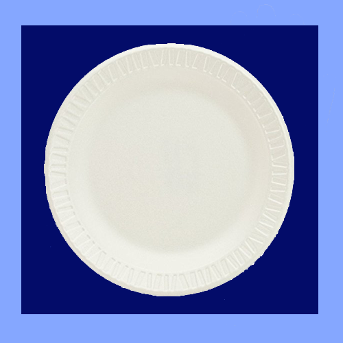 "TH1-0006 - 6"" WHITE FOAM PLATES"
