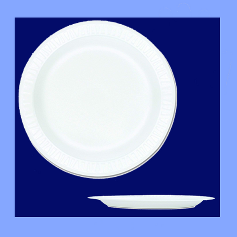 "TH1-0009 - 9"" WHITE FOAM PLATES"