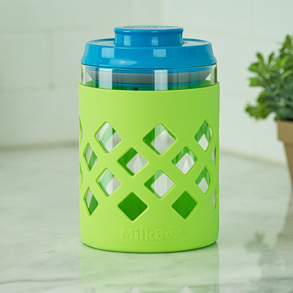 MilkBox Glass Body Airtight Storage Container For Baby Formula & Food BPA-Free - 1.0 L Capacity
