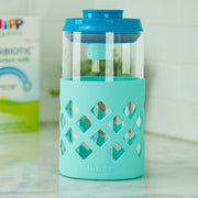 MilkBox Plus Glass Body Airtight Storage Container For Baby Formula & Food BPA-Free - 1.4 L Capacity