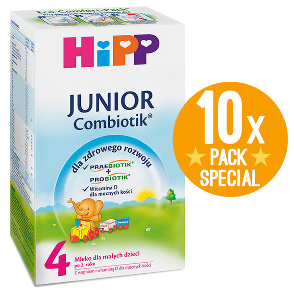 HiPP Junior Combiotic Stage 4 Organic Formula Milk 600g - 2 Years+ (10 Pack)