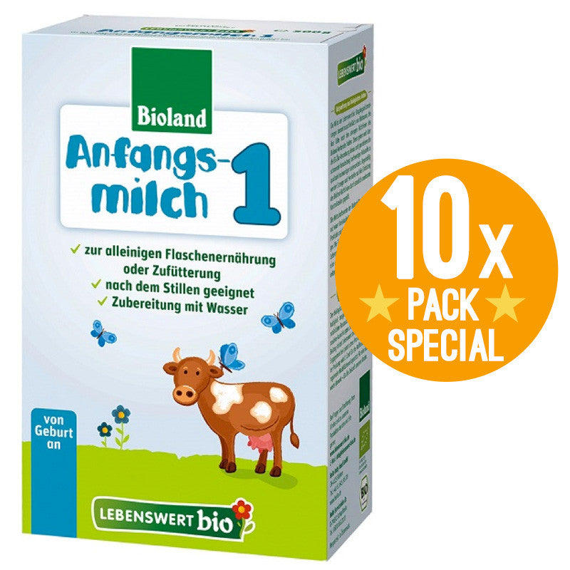 Lebenswert Bio Stage 1 Organic Infant Baby Formula 500g - 0 Months+ (10 Pack)
