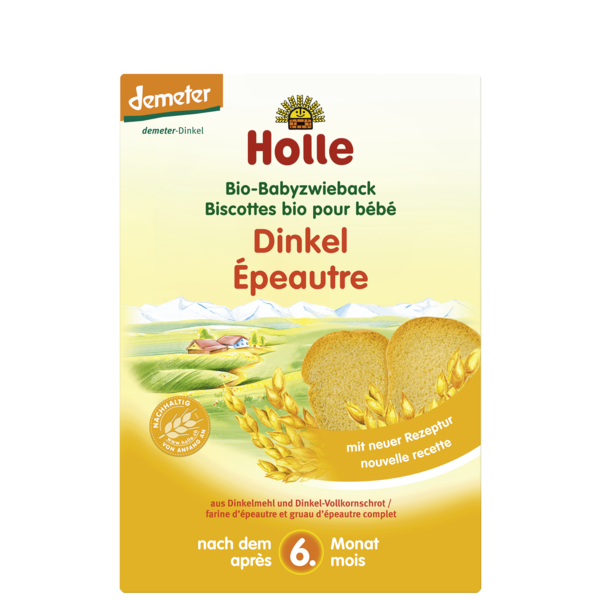 Holle Organic Spelt Baby Biscuits 200g - 6 Months+