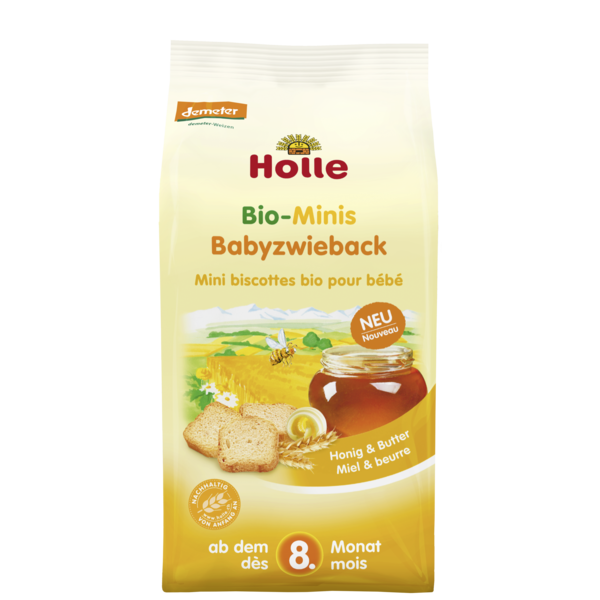 Holle Organic Mini Baby Biscuits 100g - 8 Months+
