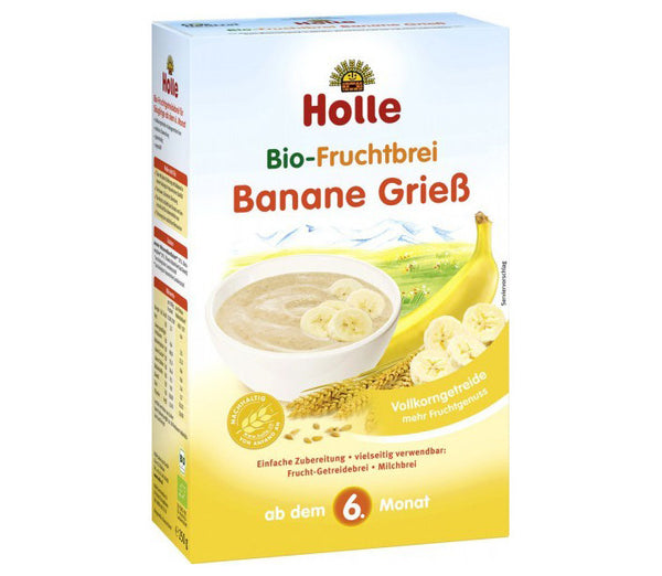 Holle Organic Banana Semolina Fruit Porridge 250g - 6 Months+