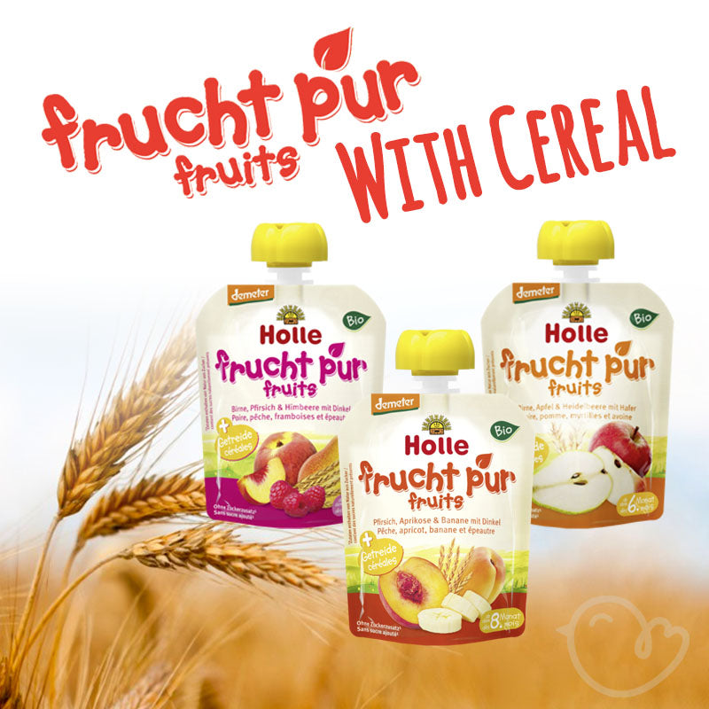 Holle Organic Pure Fruit With Cereal Pouches Variety - 90g each (12 Pack)