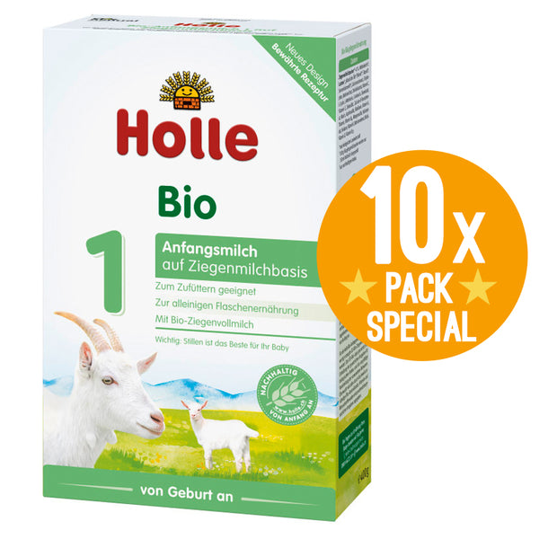 Holle Goat Stage 1 Organic Milk Baby Infant Formula 400g - 0 Months+ (10 Pack)