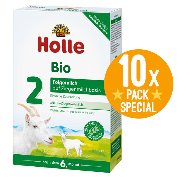 Holle Goat Stage 2 Organic Milk Baby Formula Follow-On 400g - 6 Months+ (10 Pack)