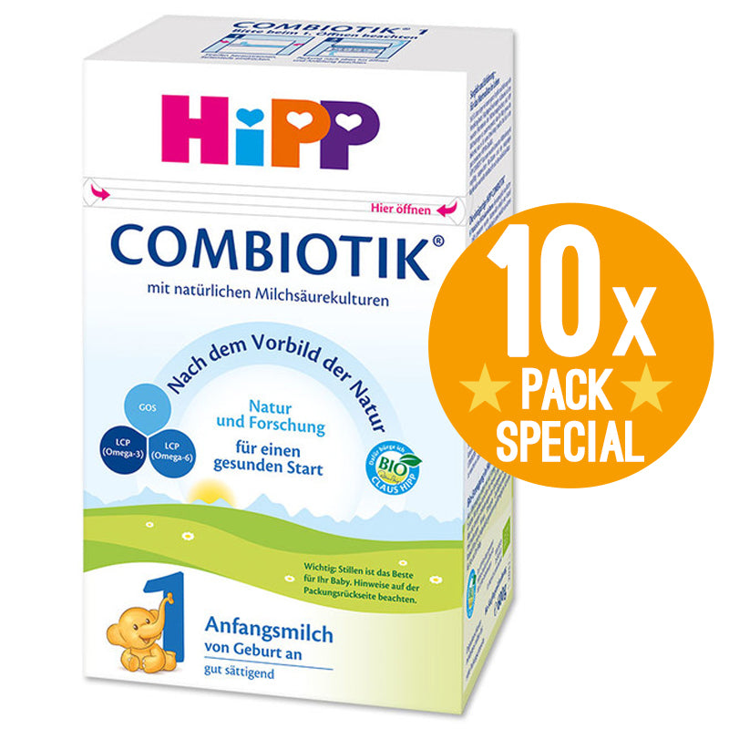 HiPP Germany Stage 1 Organic Combiotic Formula Infant Milk 600g - 0 Months+ (10 Pack)