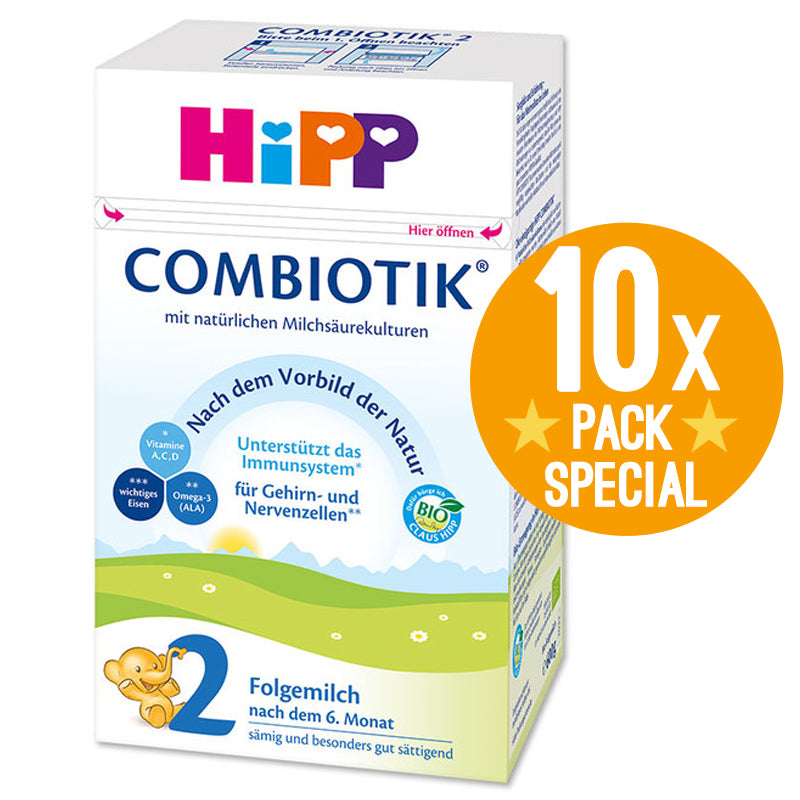 HiPP Germany Stage 2 Organic Combiotic Formula Infant Milk 600g - 6 Months+ (10 Pack)