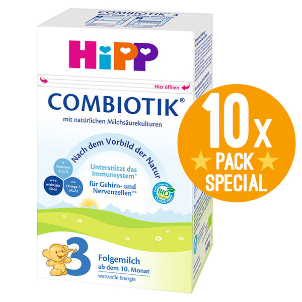HiPP Germany Stage 3 Organic Combiotic Formula Milk 600g - 10 Months+ (10 Pack)
