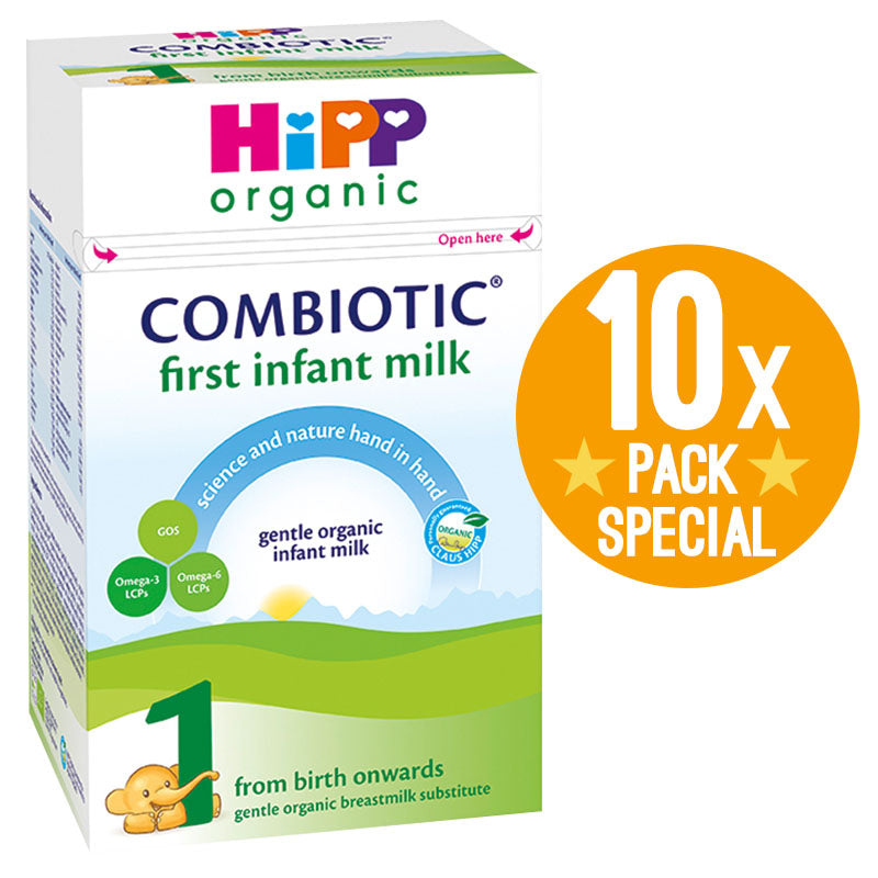 HiPP UK Stage 1 Organic Combiotic First Infant Milk Formula 800g - 0 Months+ (10 Pack)