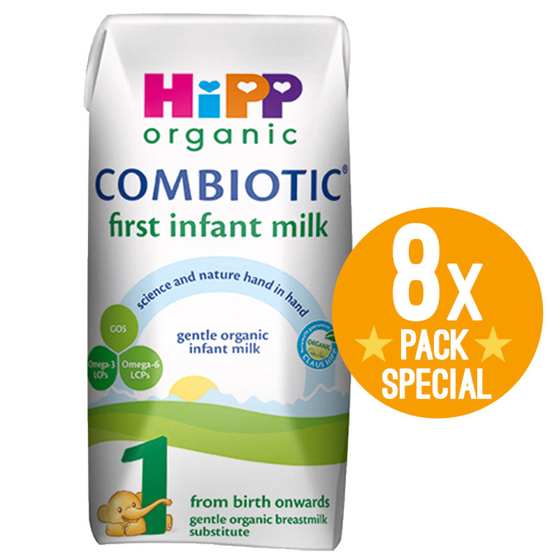 (Premixed) HiPP UK Stage 1 Organic Combiotic Ready To Feed Infant Milk Formula (200ml) 8x Pack - 0 Months+