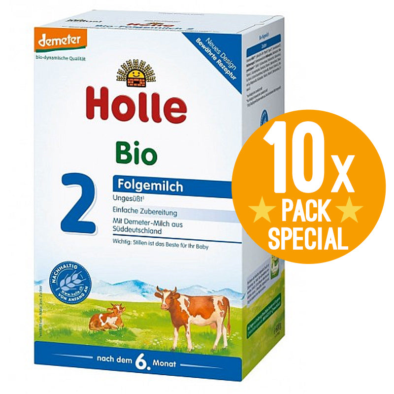 Holle Stage 2 Organic Baby Follow-On Formula 600g - 6 Months+ (10 Pack)