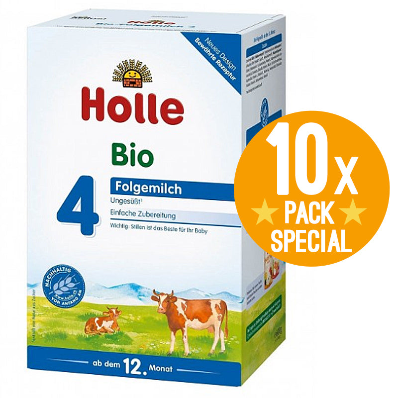 Holle Stage 4 Organic Growing-Up Milk Formula 600g - 12 Months+ (10 Pack)