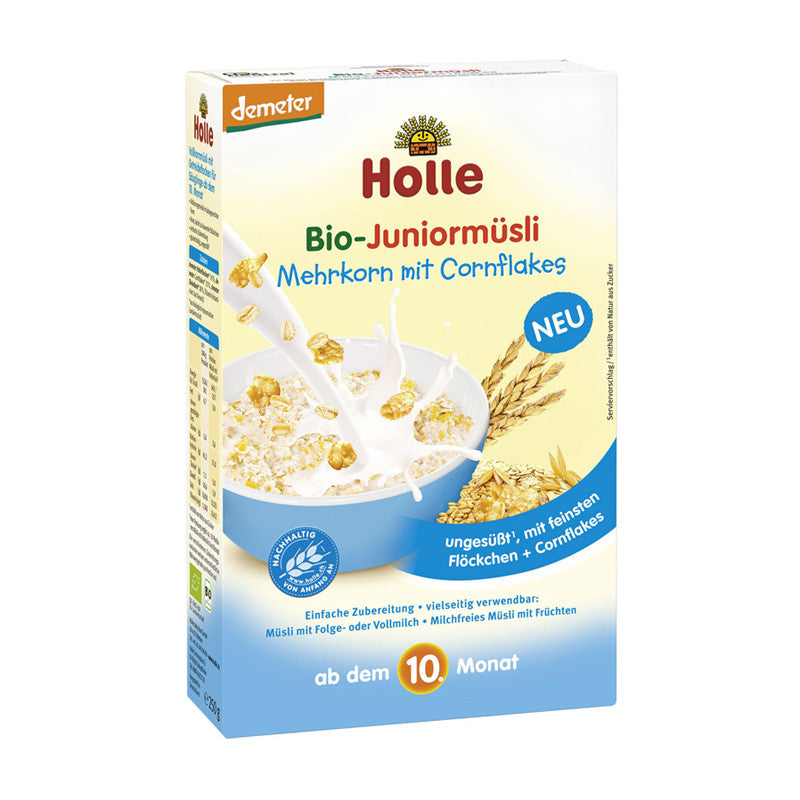 Holle Organic Bio Junior Muesli Multigrain with Cornflakes Porridge 250g - 10 Months+