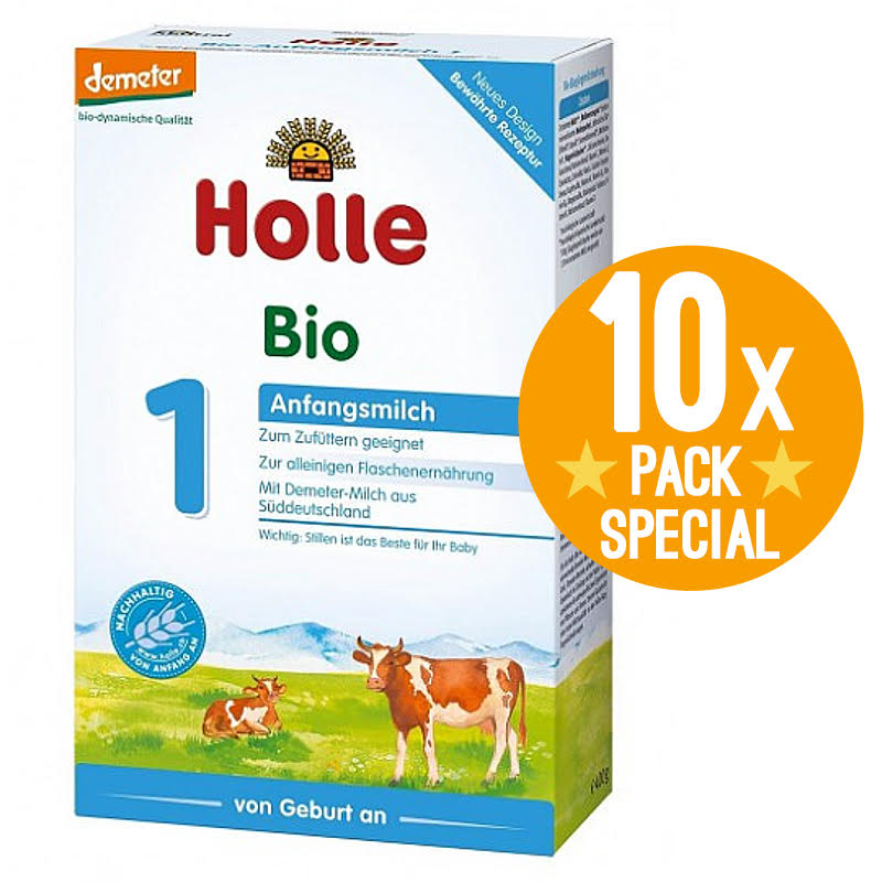 Holle Stage 1 Organic Infant Baby Formula 400g - 0 Months+ (10 Pack)
