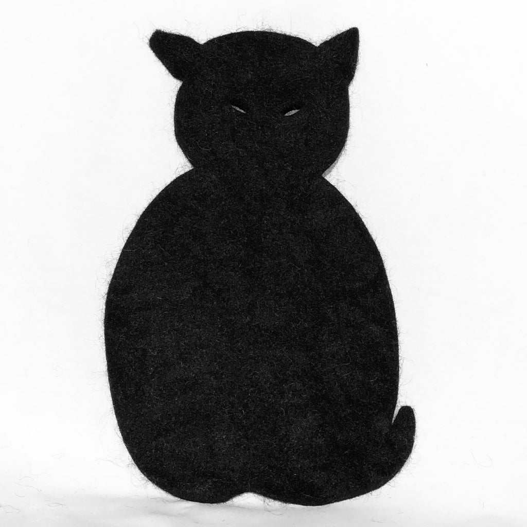 Felted Wool Hot Pad, Cat