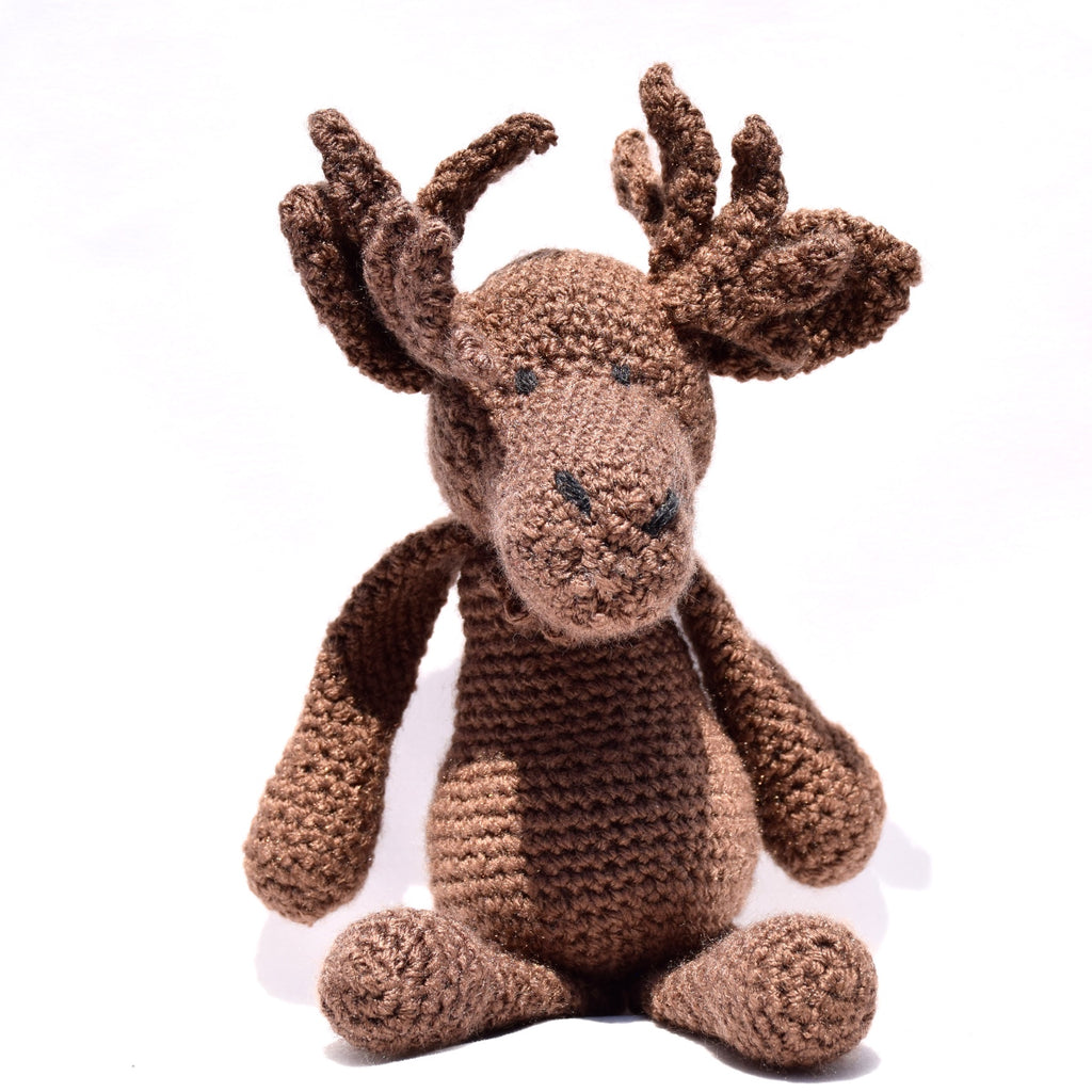 Hand Crochet Moose, brown