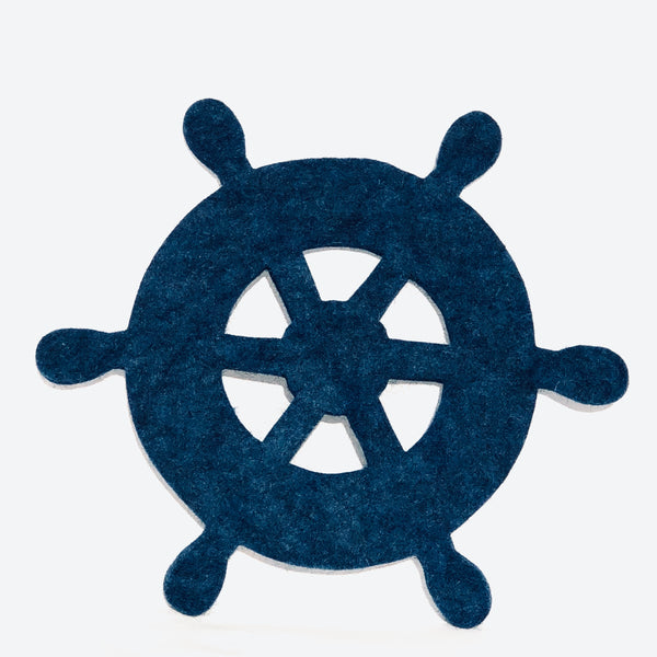 Felted Wool Hot Pad, ships wheel. More colors