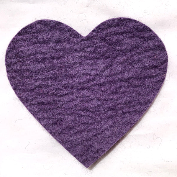 Felted Wool Hot Pad, heart