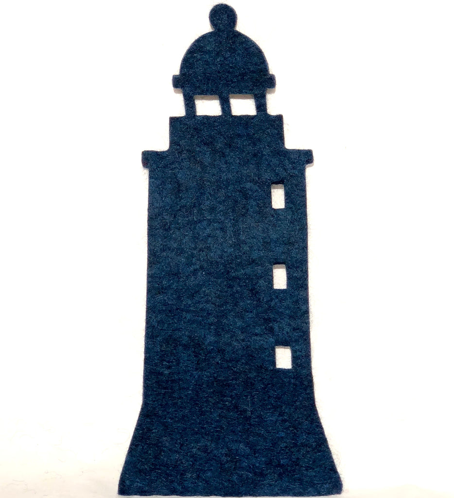 Felted Wool Hot Pad, Lighthouse.