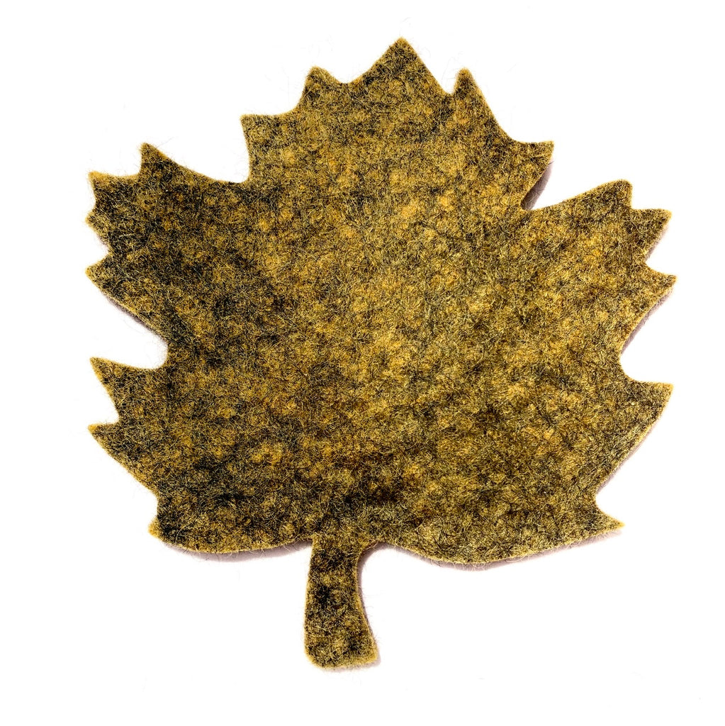 Felted Wool Hot Pad, Maple Leaf