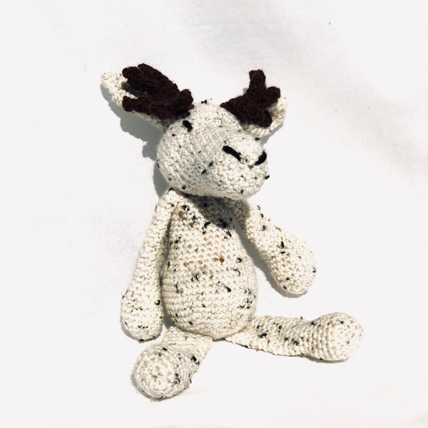 Hand Crochet Moose, grey