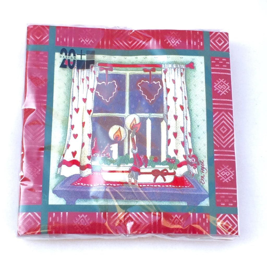 Dinner Napkin, Christmas Window