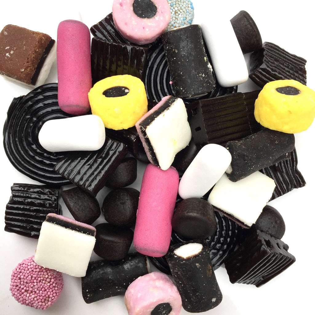 Sweet licorice candy mix