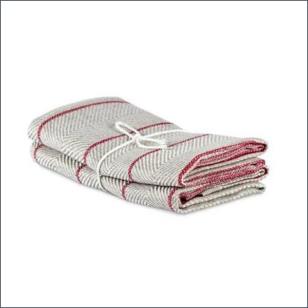 "Axlings Linen Tea Towel ""Marulk"", 2-pack. Red"