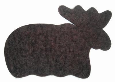 Felted Hot Pads, Moose