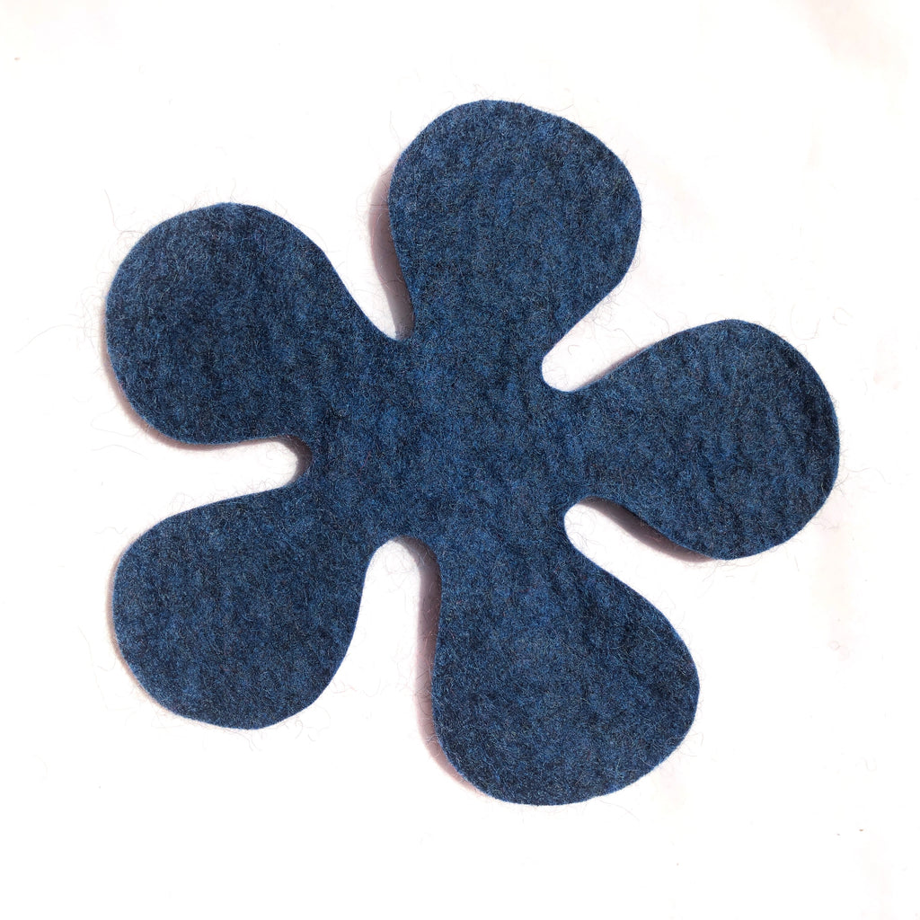Felted Wool Hot Pad, Flower. More colors